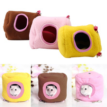 New Style Tree Stump Cute Mini Pet House Winter Warm Hamster Rabbit Rat House Soft Fleece Small Animal Hanging Bed House