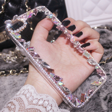Bling Crystal Pearl Diamond Acrylic Case For Samsung Galaxy S8 Plus S7 S6 Edge Plus Note 5 4 A5 A7 2017 J1 J2 J5 J3 Pro J7 2016