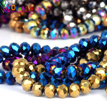 OlingArt 3/4/6/8/10/12mm AAA Mixed Faceted Glass Crystal bead Rondelle Spacer Beads DIY Bracelet choker necklace jewelry making