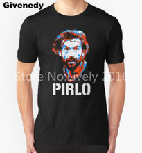 2016 Andrea Pirlo Italy  Juventus T Shirts Fashion Personalized Custom men T-shirt Funny top tee superhero cool t shirt