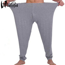 Hot sell cheap new fashion sexy Mr men's plus size male long johns thin warm pant underwear extra large size underpants fat(China)