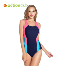 Actionclub Professional Sports Swimwear Women One Piece Racerback Swimsuit Monokini High Quality Brand Slim Bathing Suit WS463(China)