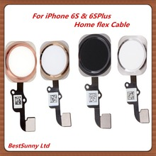 10pcs  Home Button Flex Cable  for iphone 6S 4.7  on off button Assembly  for iphone 6S plus 5.5 Rose Gold Assembly