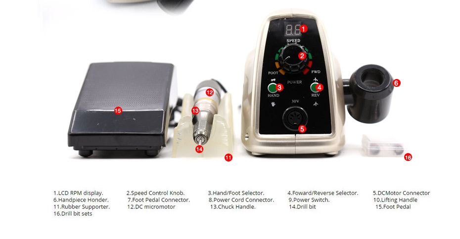 8 electric professional nail drill, professional nail drill, nail drill,Cheap electric professional nail drill, (12)