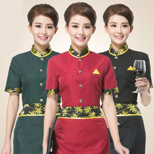 Hot Sale Work Clothes Summer Restaurant Kitchen Chef Uniform Short Sleeve Working Wear Chef Jacket Waiter Uniforms