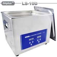 Limplus 2.85Gallon 10L Shooting Gun Bullet Shell Ultrasonic Cleaner Bath Machine with HeaterTimer Water Drain Free SUS304 Basket(China)