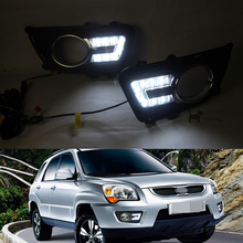 wholesale car styling For KIA Sportage 2009~2012 LED DRL Daytime Running Lights Daylight Waterproof Fog Head Lamp free shipping