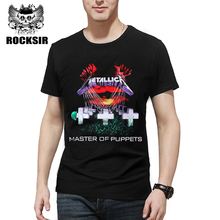Rocksir 2017 new design band t shirt men METALLICA classic music design master of puppets rock style heavy metal men tees
