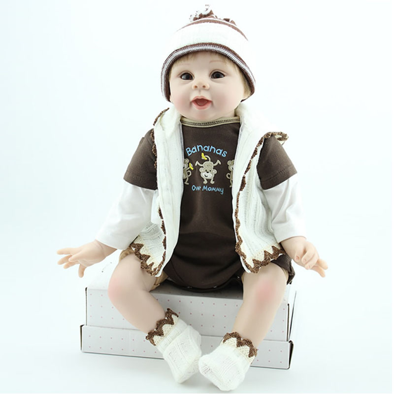 UCanaan 50-55cm Lovely Doll Silicone Reborn Baby Dolls Realistic Hobbies Handmade Toy For child Toys Best Gifts Baby Doll<br><br>Aliexpress