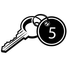 15.2X9CM KEY WITH TAG AND NUMBER Originality Car Sticker Vinyl Decal Car-styling S8-0963