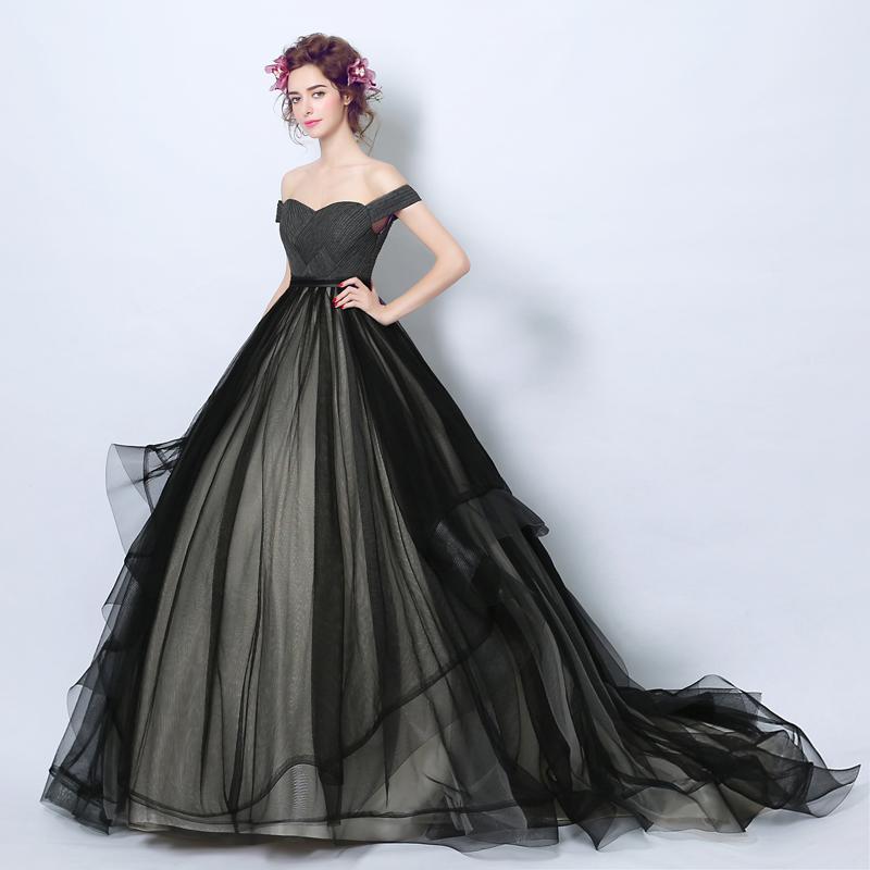 shop Black Ball Gown Evening Dress Ball with Pleats
