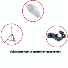Free Shipping!!! Photographic Equipment Clothing Shoot Photography Set 2m Light Stand + White Umbrella + Socket Adapter