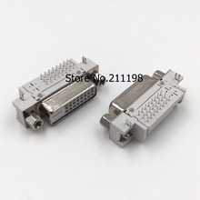 5PCS/LOT DVI 24+1 socket female head 90 degrees DVI bending welding plate connector serial