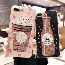 Buy Cartoon Flower Bottle Quicksand Dynamic Liquid Glitter Phone Case iPhone 6 Cases Iphone 7 Case 6S 7 8 Plus Cover Coque for $2.75 in AliExpress store