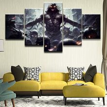 Home Decor Print Canvas Painting Frame Art Canvas Painting Wall Picture 5 Panel The Band Music Disturbed Poster Decor Bedroom(China)