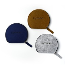 Lymoc New Earphone Bags Half a Round Felt Earphone Storage Bag Case for Headphone Portable Headset Box Health Material(China)