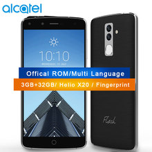"Original Alcatel FL03 4G LTE Mobile Phone 3GB RAM 32GB MTK Helio X20 Deca Core 5.5"" 1080P Dual Camera 13MP Fingerprint"