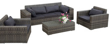 2015 Luxury Design Outdoor Wicker Patio Furniture Sofa Set(China)
