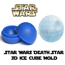 4Pieces Star Wars ! Death Star Ice Cube Tray Sphere Silicone Ice-pop Mold Ice Maker