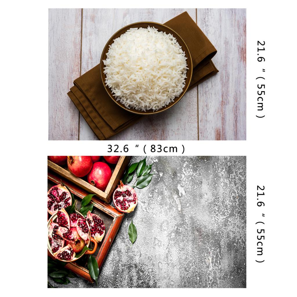 HUAYI 83x55cm double sides wood board photography backdrop wooden floor photoshoot background photocall for Food Cake photophone