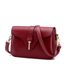 Women New Design Wine red Crossbody Messenger Bag PU Leather Shouder Bags Korea Fashion Female Minimalist Totes