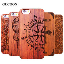 Retro Plastic+Wood Skull Case for iPhone 5 5S iPhone SE Novetly Vintage Case Cover for iPhone 5S 6 6S Plus 7 7 Plus 5.5inch