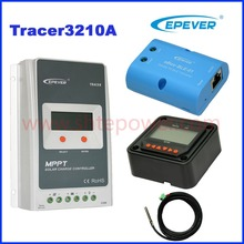 Tracer 3210A Epsloar EPEVER 30A MPPT Solar Charge Controller with MT50 Meter WIFI bluetooth temperature sensor and USB cables