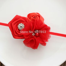 16colors Kids Flower headband girl Rose Flowers Headband Christmas hair  Accessories 1pcs