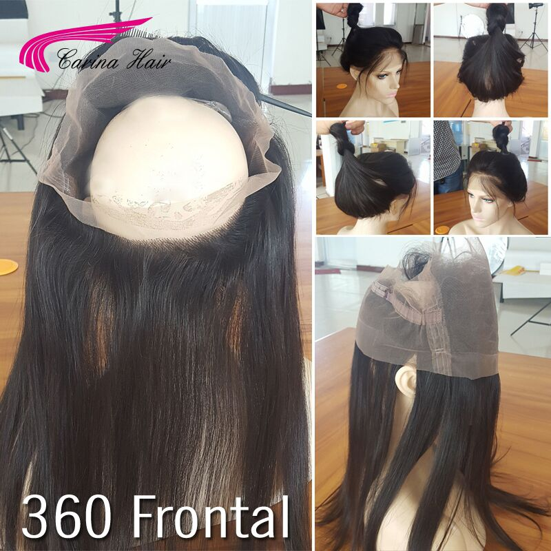 Silk Straight 360 Lace Frontal Closure 8A Brazilian Virgin Hair Lace Band Frontals With Baby Hair Natural Hairline 360 Frontal <br><br>Aliexpress