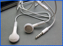 White 1M Headset Stereo 3.5mm Earphone Earbuds+Mic For Apple iPhone 4S 5S New(China)