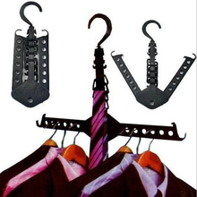 2017 New Hot Telescopic Clothes Multi Hanger Space Saving Folding Hook Rack Wardrobe Organizer Portable Clothes Support Hangers
