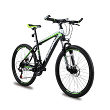 "26"" 21 speed Green Black classic men's mountain bike cycling road bicycle double disc brake men & women cycling Outdoor Sport"