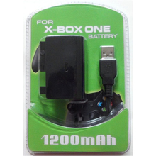 1200MAH Rechargeable Battery Pack for Xbox One Wireless Controller with Retail Package USB Cable