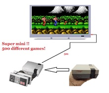 Mini TV Game Console Video Game Console For Nes 8 Bit Games with 500 Different Built-in Games Double Gamepads Supports PAL&NTSC
