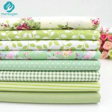 8pcs/lot 40cm*50cm Green Cotton Fabric for Sewing Patchwork Quilting Doll Cloth Handmade Needlework Material Telas to Patchwork
