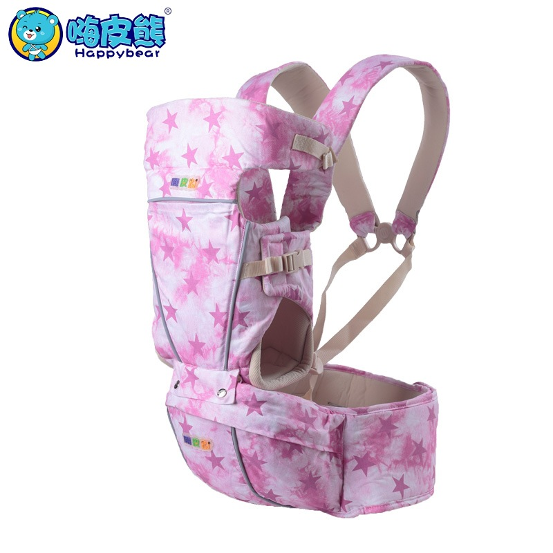 HappyBear New Fashion Multifunction 3 in 1 Baby Carrier Backpack Pure Cotton Sling For Newborn Baby Chicco Wrap Rider Canvas<br>