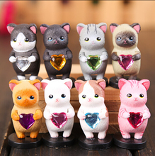New Product 8 pcs/set South Korea style Rainbow Lovely Cats  Action Figure Toys