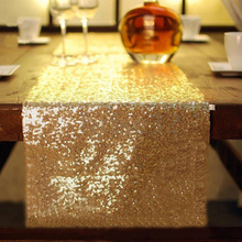Bling Home Hotel Wedding Party Decorations Tablecloths Luxury Sparkly Light Sequin Table Flag Runner Cloth Gold Silver Covers