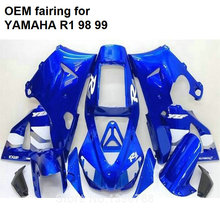 MOTOMARTS Hot body parts for YAMAHA fairings kit YZFR1 1998 1999 sky blue injection mold fairings set YZF R1 98 99 SQ37