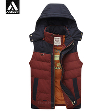 Mens Brand CLothing New Down Vest Fashion Winter Red Green Thermal Male Plus Size XXXL 4XL Waistcoat Coach Hooded Jacket Ashant