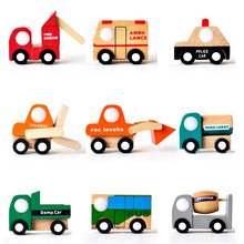 1PCS Good-looking Mini Vehicle Car Wooden Educational Toys Truck Train Model For Baby Kid Children Gift 12 Different Style
