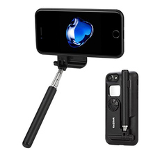 Selfie Stick Case For iPhone 6/7/6s 4.7 inch Alloy Material Cover Bag for iPhone 6/7 with Rechargeable Bluetooth Remote Battery