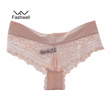 Buy Women's Sexy Lace Panties Thongs G Strings Seamless Underwear Panty Briefs Sexy Lace Ice Silk Hollow Briefs Panties