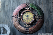 TUDA 2017 Wall Clock for livingroom Furnishing Soft Decoration Iron Wall Clock Art Antique