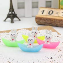 New 2Pcs Cute Rabbit Ship Luminous Rubber Eraser Kawaii Creative Stationery Papelaria Gifts For Kids Correction Supplies(China)