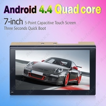 7inch Ultra Slim Android 4.4.2 Quad Core Car Media Player With GPS Navi Radio For Nissan/Hyundai 2DIN ISO #3887