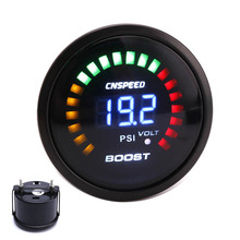 "Buy CNSPEED 2""52mm Digital Car 12V Auto Turbo Boost Gauge -15~45PSI Racing Car Boost Meter Turbo Charger Smoked 20 LED for $23.59 in AliExpress store"