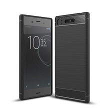 For Sony Xperia XZ XZS Premium case Carbon Fiber Soft TPU Drawing Back Cover For Xperia XZ1 Compact Case For Xperia XA1 Ultra(China)
