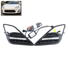 E4 R87 Approved Direct Fit For Scion FR-S 13-16 High Power Xenon White Led DRL Daytime Running Lights Fog Lamp Kits Car Styling