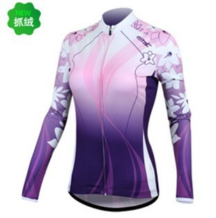 SANTIC Lady Women Winter cycling long sleeve jersey Bicycle Cycling Bike Outdoor Sports Clothing Long Sleeve Jersey Shirt S-XL<br><br>Aliexpress
